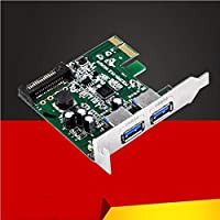 2 Port Super Speed USB3.0 5Gbps PCI-E Express Card with a 15pin SATA Power Connector Low Profile Bracket USB 3.0 Expansion Card