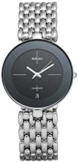 Rado Men's Black Dial Stainless Steel Band Watch - R48792183
