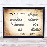 123 BiiUYOO Tim McGraw My Best Friend Man Lady Couple Song Lyric Print 14' x 12' Inches