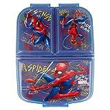 Stor Spiderman (Marvel) | Sandwichera con 3 Compartimentos para niños - lonchera Infantil - Porta merienda - Fiambrera Decorada