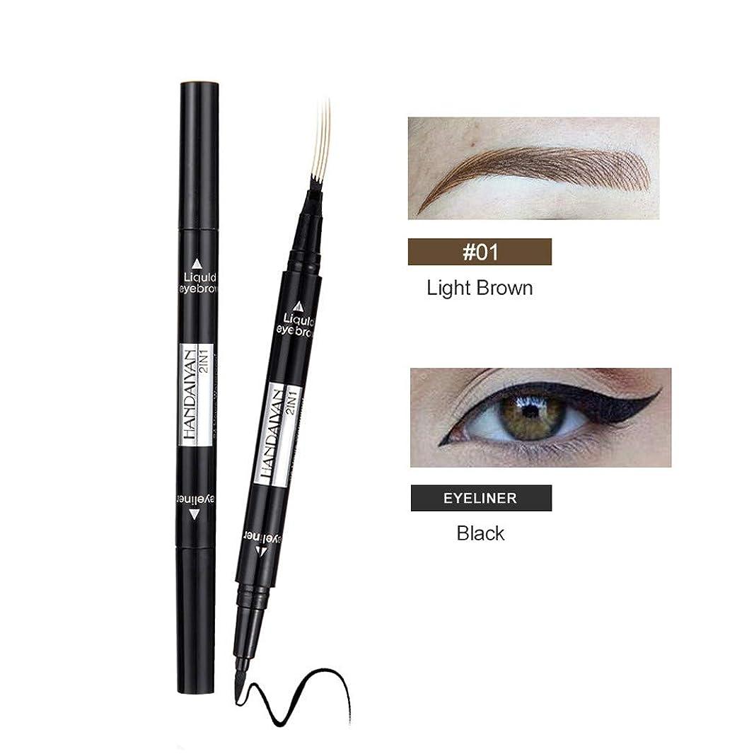 虚偽お風呂インデックス眉毛の入れ墨のペンの防水フォークの先端のスケッチの化粧ペンのMicrobladingインクスケッチ