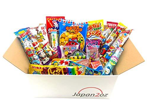 Japanese Candy Box Assortment & English Pamphlet 20 Pieces Dagashi, Candy, Snacks, Gum