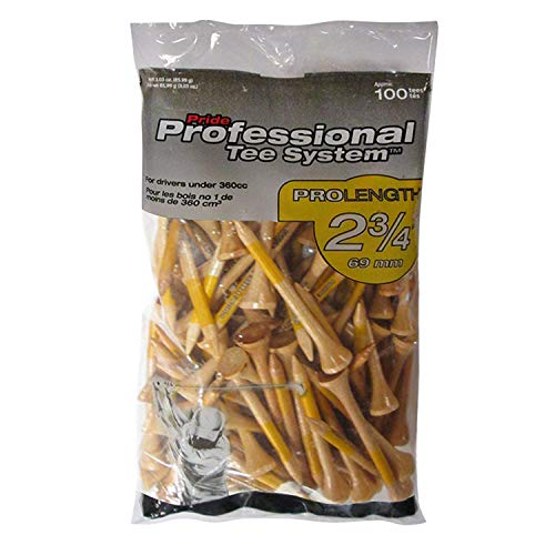 Pride Professional Tee System, 2-3/4 inch ProLength Tee, 100 count, Natural