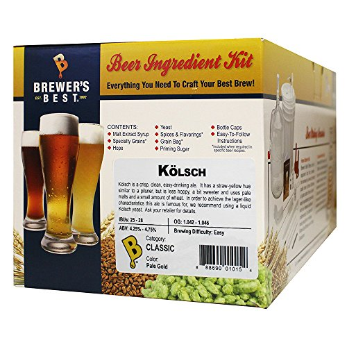 Brewer's Best - Home Brew Beer Ingredient Kit (5 gallon), (Kölsch)