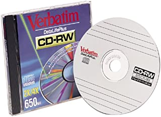 Verbatim 91663 CD-RW, 650 MB, 4X (Single with Jewel Case) (Discontinued by Manufacturer)