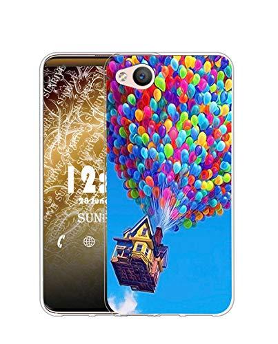 Sunrive Kompatibel mit ZTE Nubia Z9 Mini Hülle Silikon, Transparent Handyhülle Schutzhülle Etui Hülle (Q Ballon)+Gratis Universal Eingabestift MEHRWEG