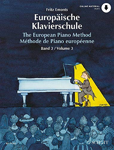 Europäische Klavierschule: Band 3. Klavier. Ausgabe mit Online-Audiodatei.