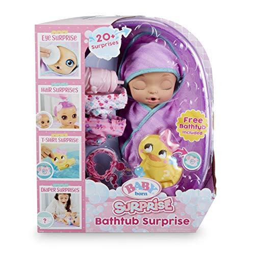 Baby Born Surprise Bathtub Surprise Purple Swaddle Princess
