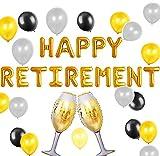 JeVenis Juego de 18 globos de feliz jubilación para fiesta de jubilación, decoración de The Legend Has Retirement