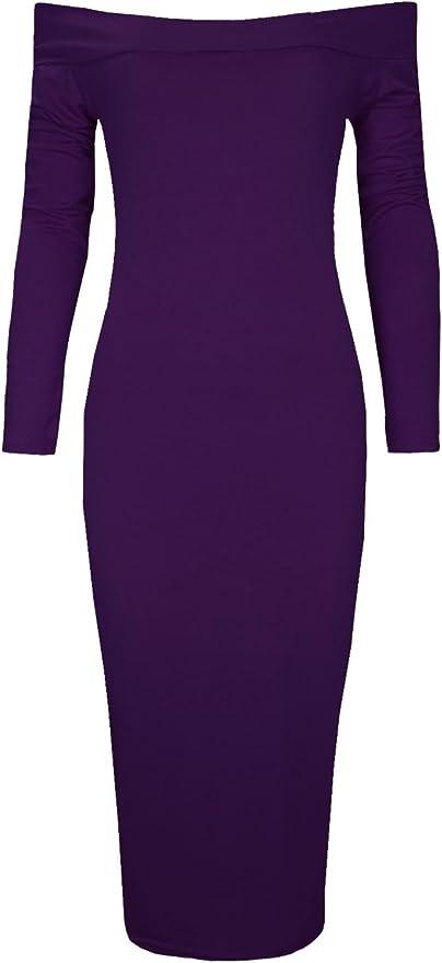 Womens Off Shoulder Cotton Midi Pullover Dress Oversized Back Split Shirt Dress