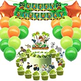 Party Packs for Wild Kratts Cake Topper Cupcake Toppers Party Supplies Decorations Balloons, Banner