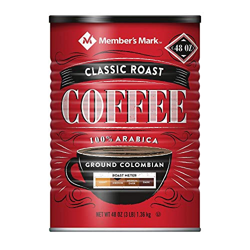 Member's Mark Ground Colombian Coffee 100% Arabica Classic Roast - 48 oz (Pack of 6)