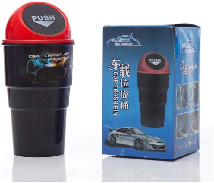 J/&X Cuba de Almacenamiento de Basura de Coches de Basura de residuos Automotive Interior Cesta veh/ículo Mini Can Red