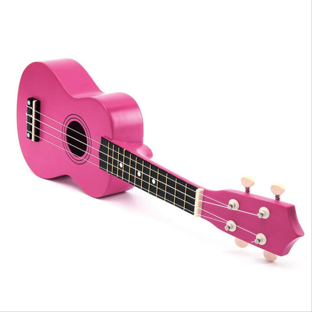 Ukelele 21 Pulgadas Soprano Ukelele B Madera Nylon 4 Cuerdas Guitarra Acústica Guitarra Instrumento Musical Para Principiantes: Amazon.es: Instrumentos musicales