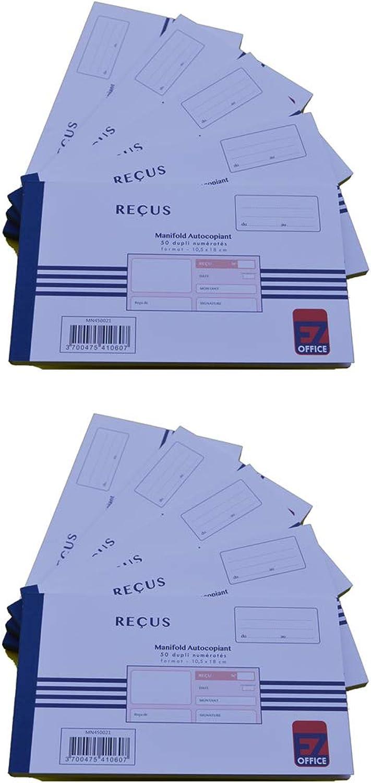 EZ Office - Manifold Reçus selbstdurchschreibend bedruckt 105 x 180 180 180 mm 10,5 x 18 cm Foliotage 50 Blatt Dupli autocopiants - Lot de 10 B07K2YHZPT | Angenehmes Gefühl  8a2ce3