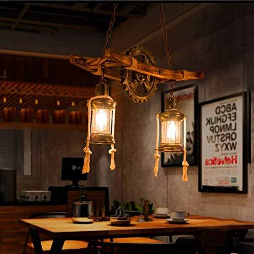 Retro Deckenlampe Deckenleuchten Industrial Bild Vintage Steampunk Kronleuchter Tischlampe Kreativ Persönlichkeit Pendelleuchte Höhenverstellbar Pendellampe Loft Bar Esszimmer Küche 2 Kopf Lampe