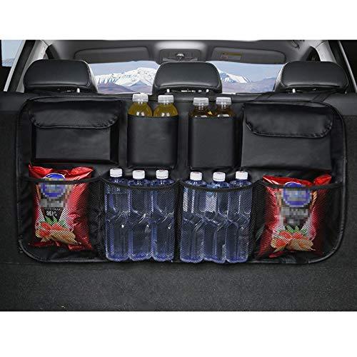 Organizador para maletero de coche, organizador de asiento trasero para niños, multifuncional, bolsa de almacenamiento de gran capacidad, plegable , bolsa de almacenamiento para viajes (negro)