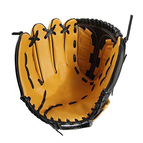 TEET Baseballhandschuh Baseball-Handschuhe Skid Linke und rechte Hand Adult Baseball-Trainingshandschuh für Erwachsene Kinder-Jugend (Color : Yellow, Size : Right Hand 12.5