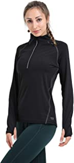 Infinite Role Women's Pullover Half Zip Sports Jacket Fast Dry Performance Long Sleeve Workout Tee Running Gym T-Shirt
