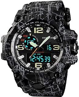 Skmei Gmarks -1155 Grey Zebra Analog Digital Sports Watch for Men (Black)