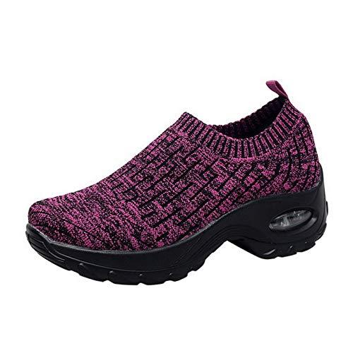 N/F Sfit Women Men Outdoor Walking Running Shoes Mesh Breathable Soft Athletics Jogging Sneaker Air Cushion Gym Slip-On Sneaker 2020