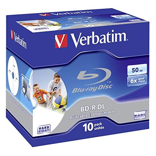 Verbatim BD-R DL 50GB 6X Wide Printable 10pk - Leere Blu-Ray Discs (Jewelcase)