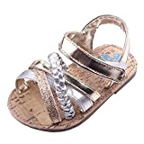 Beeliss Baby Sandals Rubber Sole Summer Shoes (12-18 Months, Gold)
