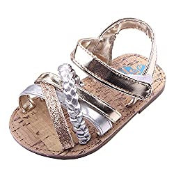 powerful Beeliss children's sandals, summer shoes with rubber sole (for children 12-18 months, golden, from 12 months)