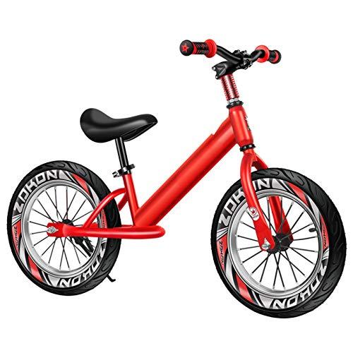 Bicicleta Sin Pedales Equilibrio Niños grandes niñas Bicicleta de equilibrio 16 pulgadas / 14 pulgadas / 12 pulgadas Neumáticos de aire, Sin pedales Ligero Marco de aluminio Bicicleta, Regalo de cumpl
