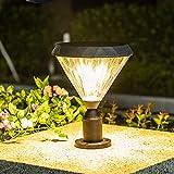 WRMING 10W LED Lampione da Giardino Esterno Alluminio Palo Luce Nero IP65 Lampade da Giard...