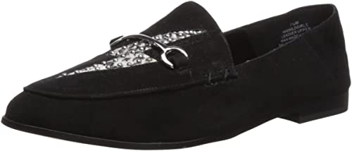 Nine West Wohommes WILDGIRLS Suede Loafer Loafer Flat, noir, 12 Medium US  70% de réduction