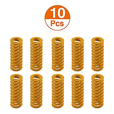 Aokin 3D Printer Heated Bed Springs 0.31in OD 0.78 in Length Die Springs Light Load Compression Springs for 3D Printer Creality CR-10 10S S4 Ender 3 Heatbed Springs Bottom Connect Leveling, 10 Pcs