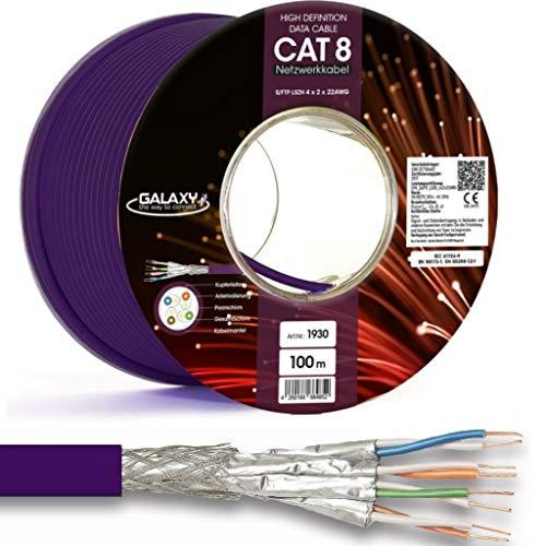 100 m de cable de red de cobre Cat 8 cable de instalación cable de datos Ethernet LAN cable  40 Gbit/s S/FTP 2000 MHz
