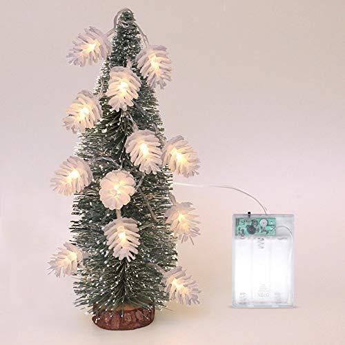 2.5M LED Lichterkette, Warmweiß, Dapei Weihnachten 20er Tannenzapfen LED String Fairy Licht Batteriebetrieben Stimmungsbeleuchtung, Dekoration für Wohnzimmer, Weihnachten, Hochzeiten, Party