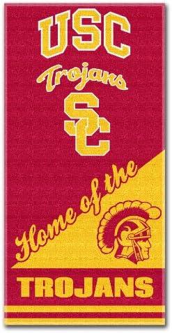 NCAA Southern California Trojans Home Beach Towel 28 x 58 Inch product image