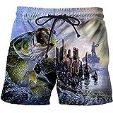 Xiangliy Fish 3D Printing Mens Swim Shorts Surf Wear Board Shorts Summer Swimsuit Boardshorts Trunks Short st290 XXXL