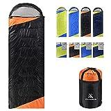Extremus Cascade Sleeping Bags, Single Person,Black/Orange