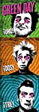 Green Day - UNO, DOS, TRE Poster - Posterflagge 100%