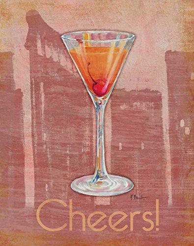 WANDAFBEELDING-op-CANVAS-Big-City-Cocktail-II-Brent-Paul-Voedsel-Print-op-canvas-op-houten-frame-voor-wanddecoratie-Afbeelding-gedruckt-op-ingelijst-canvas-Afmeting-91_X_72_cm