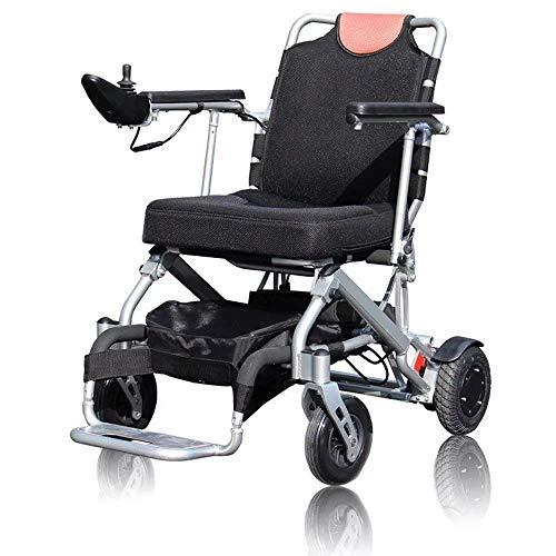 Y-L hanger-frame met ouderwetse rolstoel, aluminiumlegering, licht, elektrisch vouwen, 360 graden intelligente bedieningshendel + anti-kiepwiel, 11 Ah lithium batterij Fivespeed-snelheid