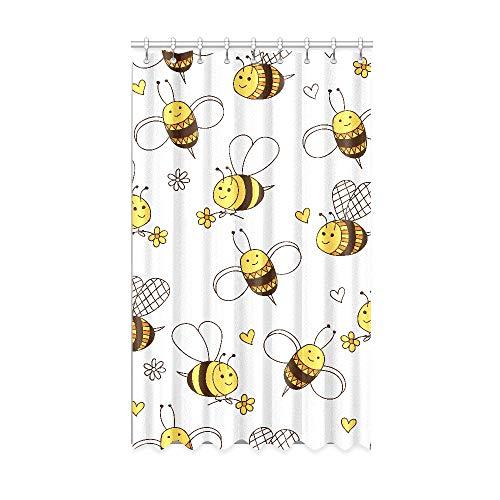 N\A Rideaux occultants pour Chambre d'enfants Travailler Dur Little Honey Bee Rideaux occultants Amusants 50 X 84 Pouces Une pièce pour Porte coulissante en Verre/Chambre à Coucher