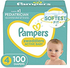 Diapers Size 4, 100 Count - Pampers Swaddlers Disposable Baby Diapers, Giant Pack (Packaging May Vary)
