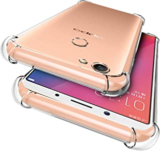 OPPO F5 Case, RUILEAN Slim Transparent Soft TPU Shockproof Drop Protection Case Cover for OPPO F5