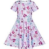 Vestido para niña Sirena Manga Corta Casual 8 años