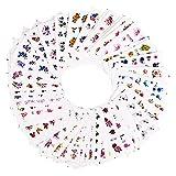 Pegatinas de uñas 55 unids/set mezcla diseños de flores de transferencia de agua envolturas de control deslizante brillo polvo pegatina de uñas calcomanía decoraciones de salón para la belleza Resis