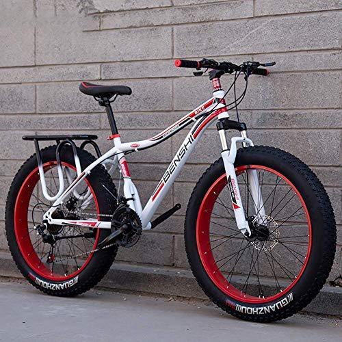Fat Man Bicicleta de montaña Ancha y Gruesa Neumático Grande Velocidad Variable Amortiguador Bicicleta de Nieve Playa Off-Road Adultos Hombres y Mujeres Coche Doble, A2,26