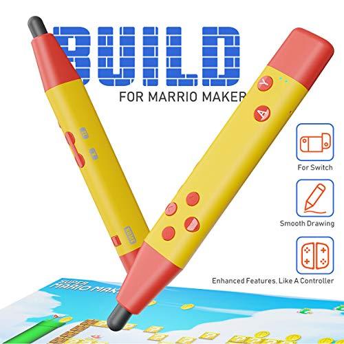 IFYOO Eingabestift, kompatibel mit Super Mario Maker 2 und anderen Touchscreen-Spielen, kompatibel mit Nintendo Switch, Switch Lite Gelb gelb