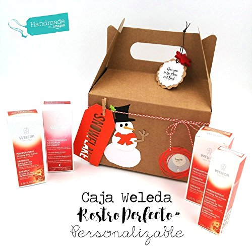 Caja Regalo 'Rostro Perfecto' con 2 Productos WELEDA | Decorado en Estilo Navideño | Regalo para Mujeres, Madres y...
