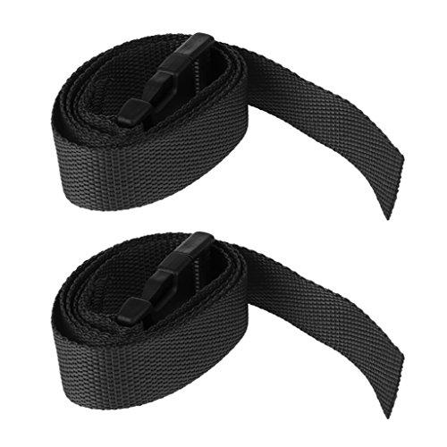 2 Piezas de Correas de Carretilla de Golf con Cinturón de Liberación Rápida Material Nylon Color Opcional - Negro