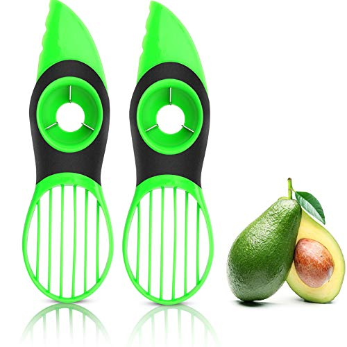 VAYAY 2 Pack-Avocado Slicer,3-in-1 Avocado Cutter Tool with...